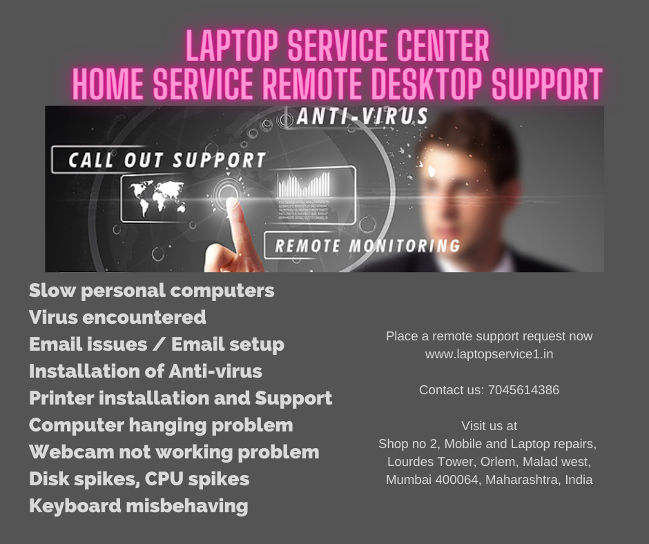 HOME SERVICE REMOTE DESKTOP SUPPORT Laptop service center mumbai